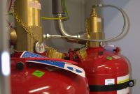 Systems with chemical extinguishing agents